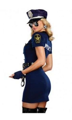 COPS AND ROBBERS -  POLICE OFFICER COSTUME (ADULT)