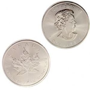 MAPLE LEAVES -  ONE OUNCE FINE SILVER COIN -  2018 CANADIAN COINS