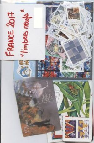FRANCE -  2017 COMPLETE YEAR SET, NEW STAMPS