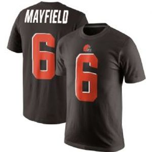 CLEVELAND BROWNS -  BAKER MAYFIELD #06 T-SHIRT - BROWN