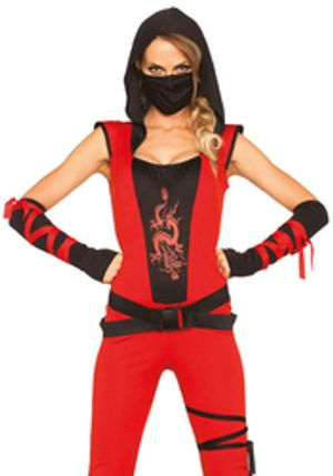 NINJA -  NIJA ASSASSIN - RED AND BLACK