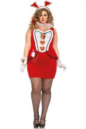 ALICE IN WONDERLAND -  TEE PARTY BUNNY COSTUME (PLUS SIZE)