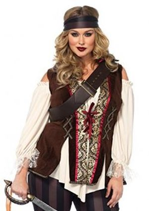 PIRATES -  CAPTAIN BLACKHEART COSTUME (PLUS SIZE)