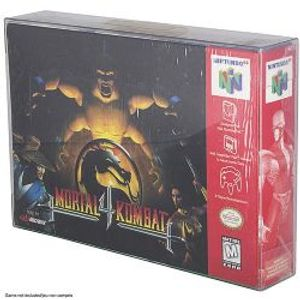 PROTECTOR BOX -  CLEAR PLASTIC PROTECTORS FOR NINTENDO 64 AND SUPER NINTENDO CARTRIDGE BOX