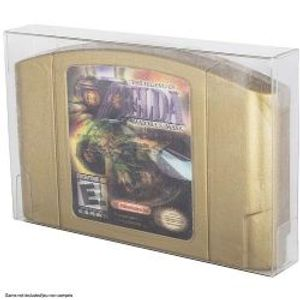 PROTECTOR BOX -  CLEAR PLASTIC PROTECTORS FOR NINTENDO 64 CARTRIDGE