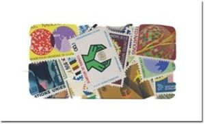UNITED NATIONS -  100 ASSORTED STAMPS - UNITED NATIONS MINT