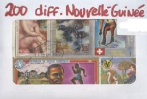 NEW GUINEA -  200 ASSORTED STAMPS - NEW GUINEA
