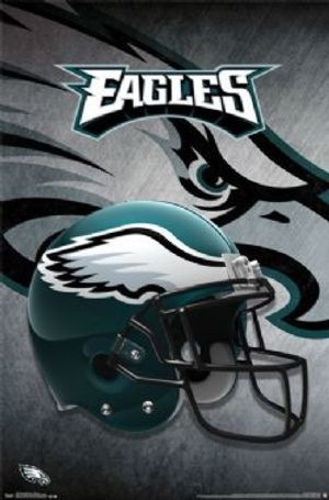 EAGLES DE PHILADEPHIE -  AFFICHE CASQUE (56 CM X 86.5 CM)