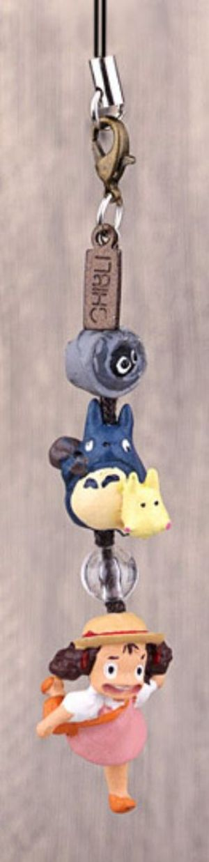 MY NEIGHBOR TOTORO -  MEI WITH CHU AND CHIBI TOTORO CELLPHONE STRAP