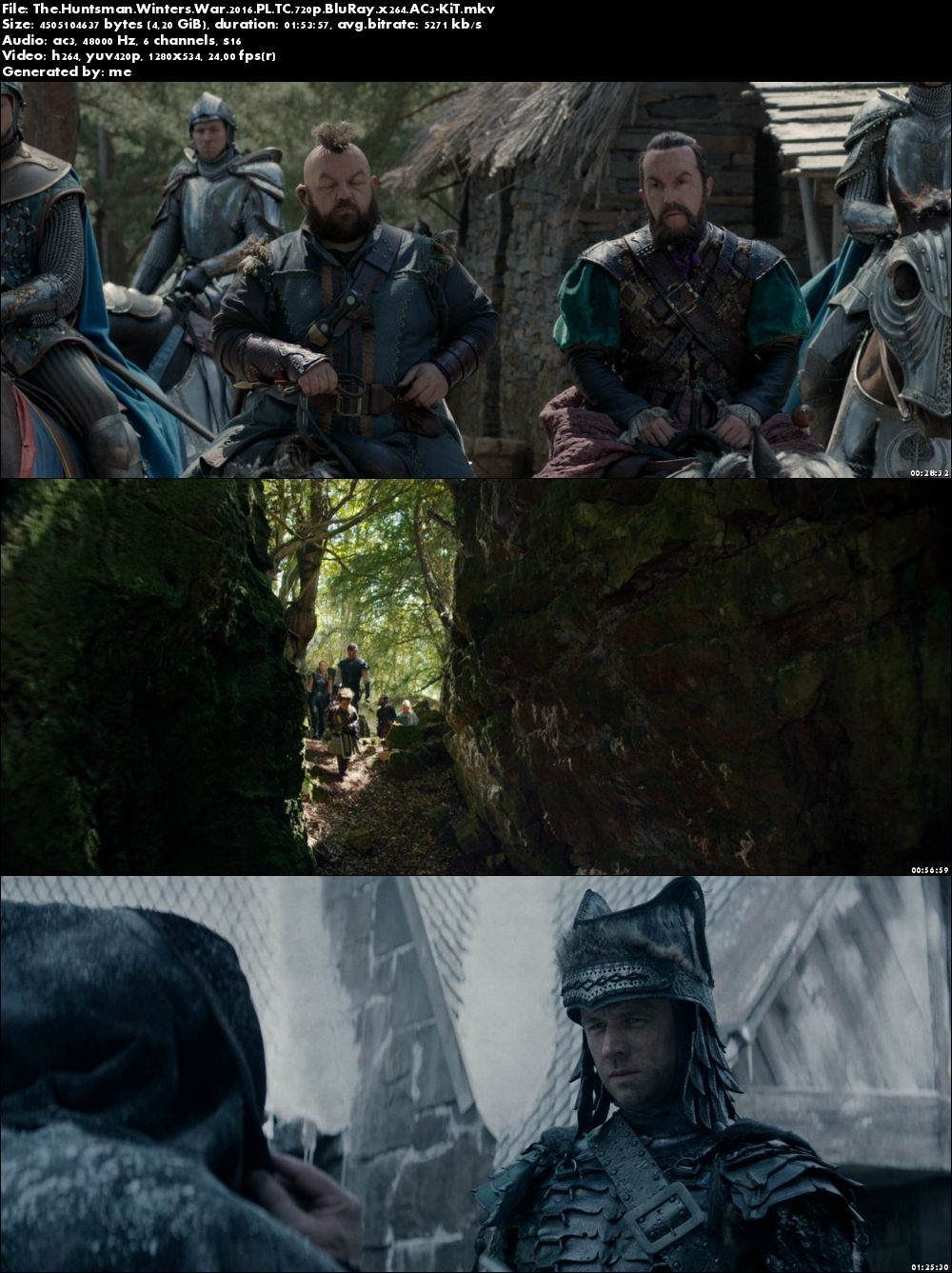 Łowca i Królowa Lodu / The Huntsman: Winter's War (2016) PL.TC.720p.BluRay.x264.AC3-KiT / Lektor PL