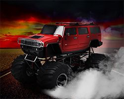 Red Hot Monster Truck