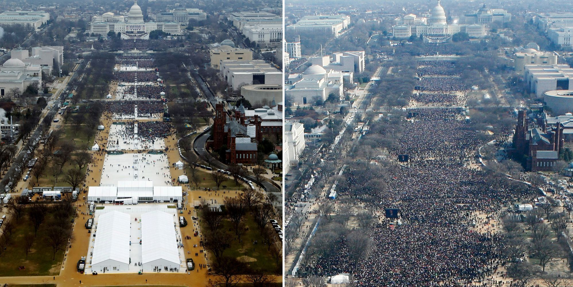 Americans Aren't Buying Trump's False Claims About Inauguration Crowd Size