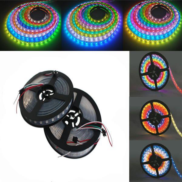5M WS2812B 5050 RGB Waterproof IP67 300 LED Strip Light Dream Color Changing Individual Addressable DC 5V