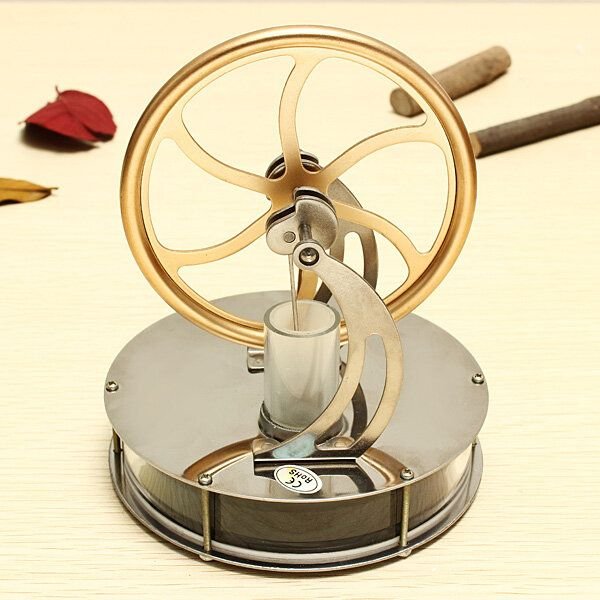 STEM Low Temperature Difference Stirling Engine DIY Toy Gift Decor Collection