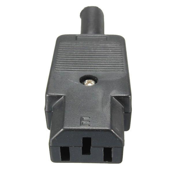 JTK US$1.71 10A 250V IEC 320 C13 3pin Linker Female Mains Connector Black