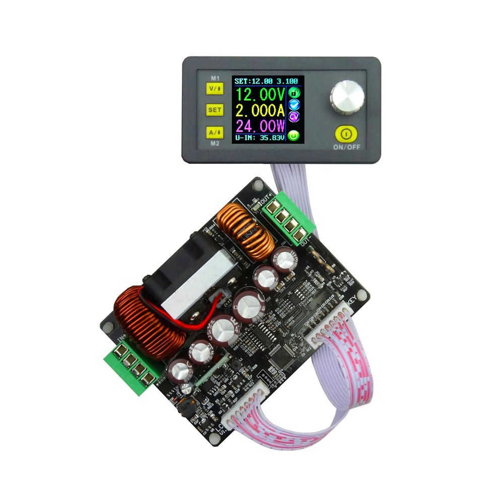 RIDEN® DPH5005 Buck boost Converter Constant Voltage Current Programmable Digital Control Adjustable Power Supply Color LCD Voltmeter 50V 5A Module