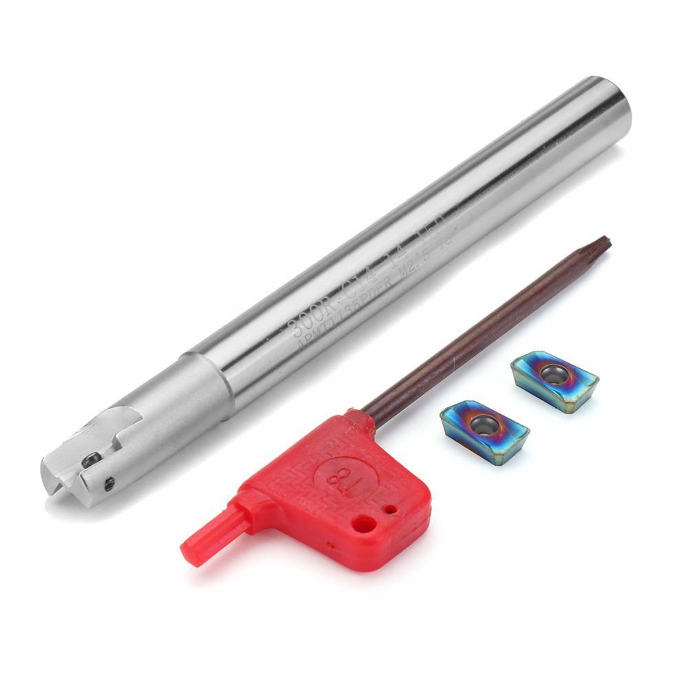 RJF US$11.43 Drillpro Upgrade 300R 14mm 2 Flute Face Milling Cutter+2pcs HRC58 Blue Nano APMT1135 Carbide Insert