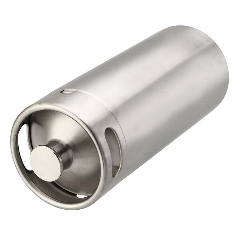 NJQ US$56.89 4L Stainless Steel Mini Keg Growler for Beer or Wine Home Brew Homebrew Kegerators