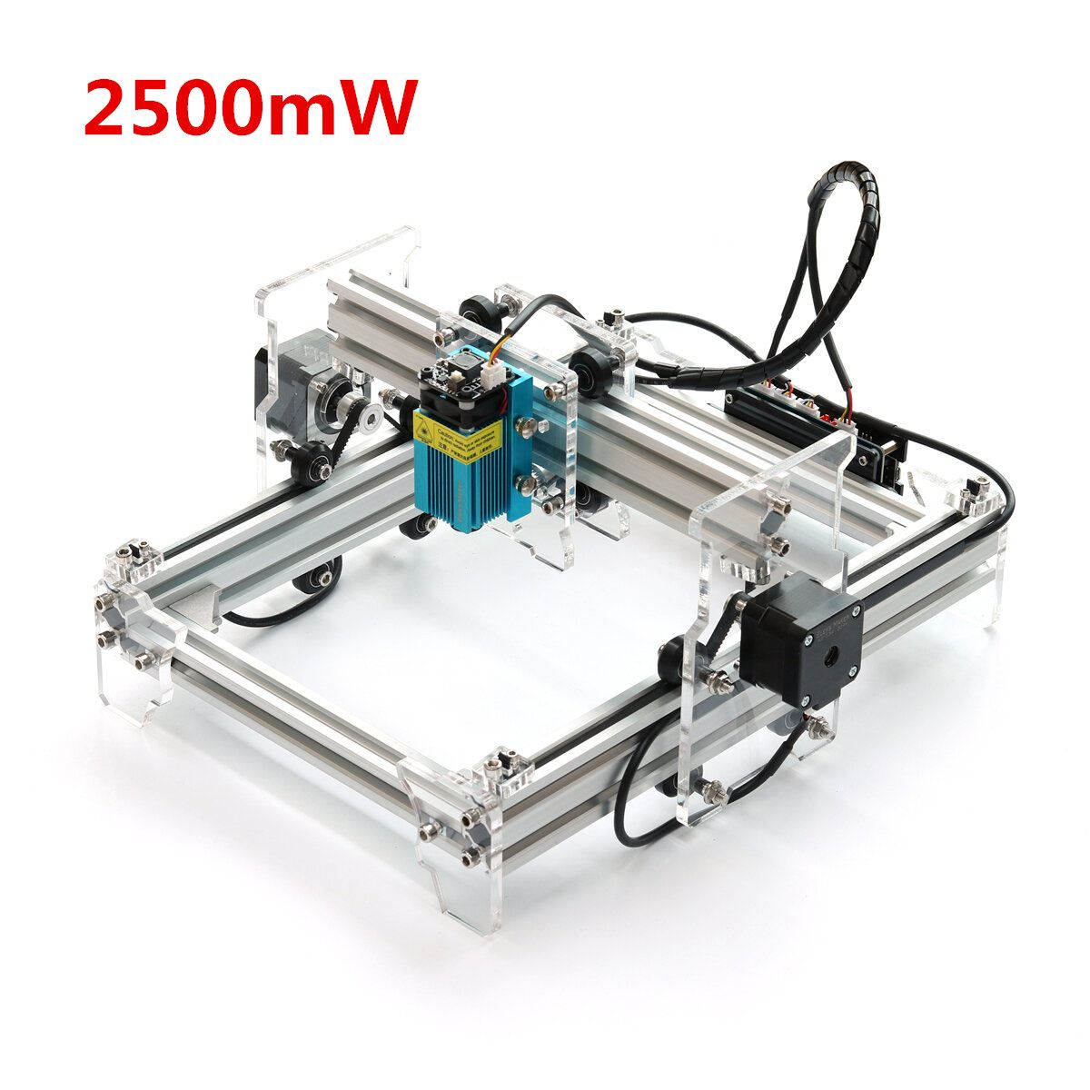 2500mW Desktop DIY Violet Laser Engraver Engraving Machine Picture CNC Printer Assembling Kits