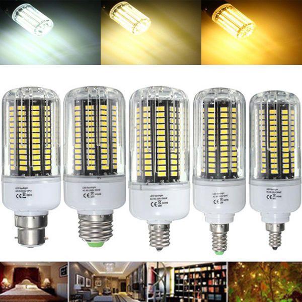 E27 E17 E14 E12 B22 18W 100 SMD 5736 LED Pure White Warm White Natural White Corn Bulb AC85 265V
