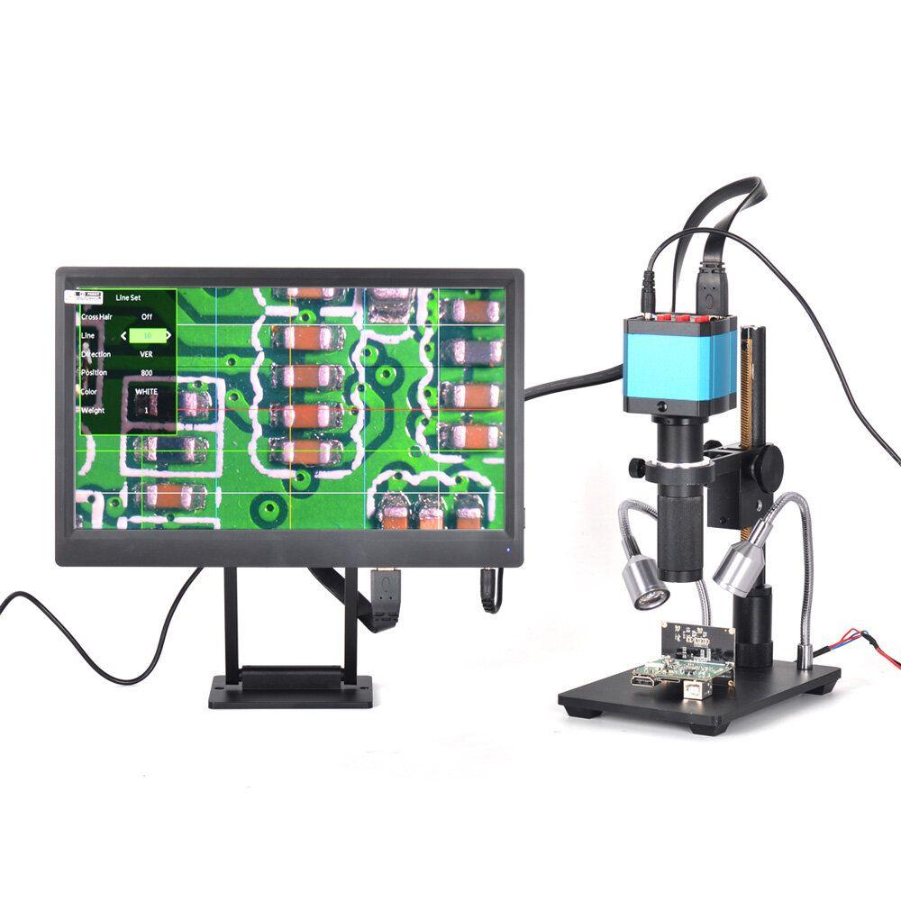 HAYEAR 14 Million Pixels Full HD Color Screen Digital Magnifier Microscope 1 / 2.3 Inch Electron Digital Microscope Image Sensor With Bracket