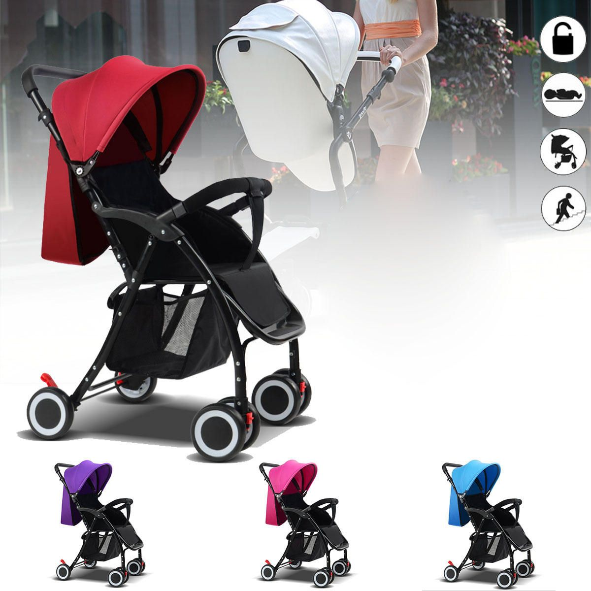 Foldable Baby Kids Travel Stroller Newborn Infant Pushchair Buggy Pram Lightweight Baby Carriage