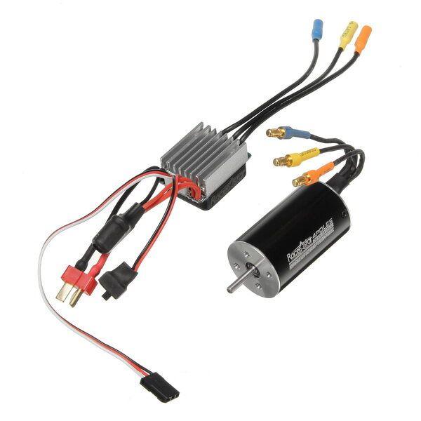 Racerstar 2845 Motor Brushless Waterproof Sensorless 35A ESC Combo 1/12 1/14 RC Car Parts
