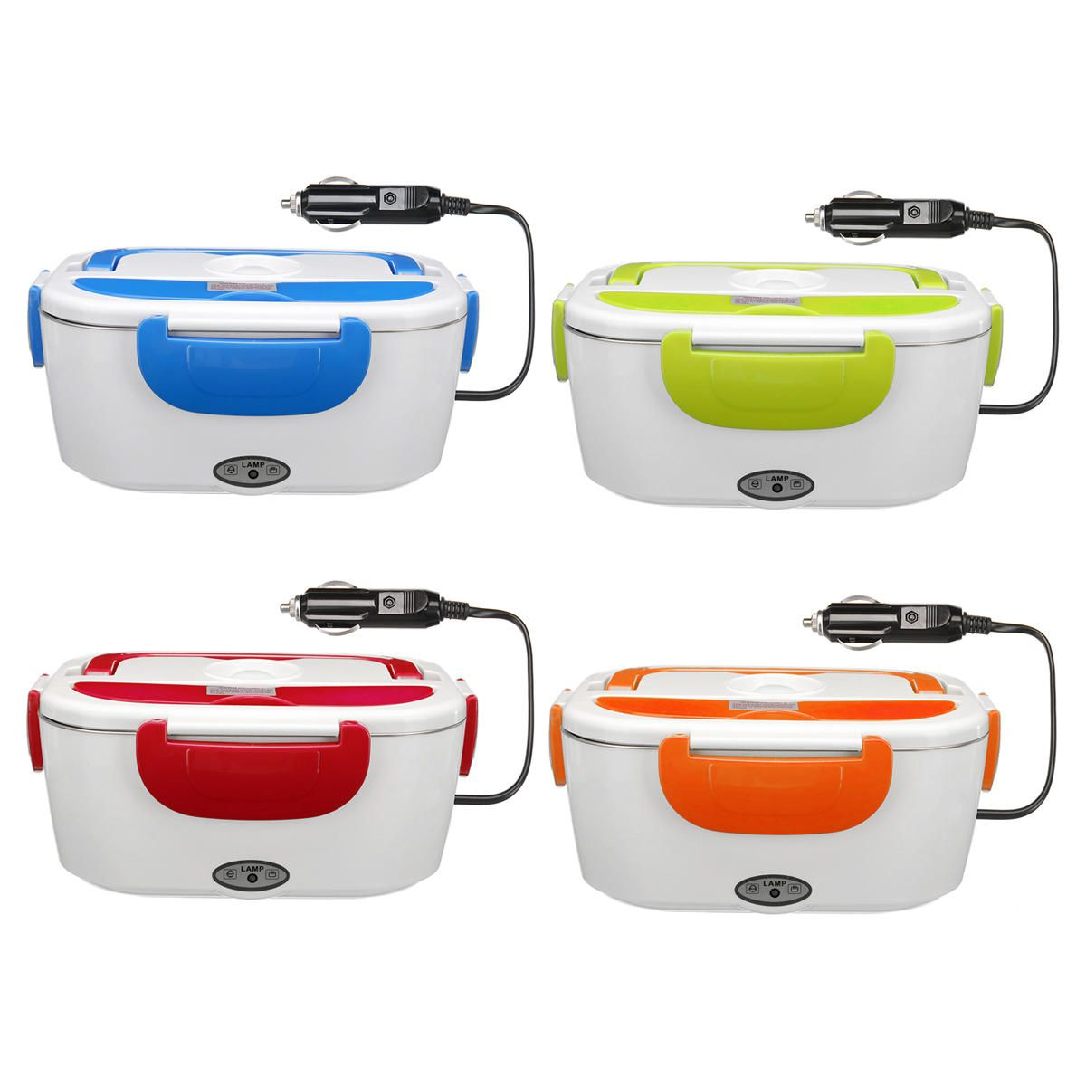 Multi functional Portable Electric Heating Lunch Box Food Heater Rice Container for Home Office Car
