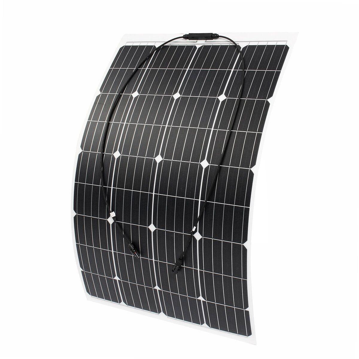 120W 18V Monocrystalline Silicon Semi flexible Solar Panel Battery Charger W/ MC4 Connector