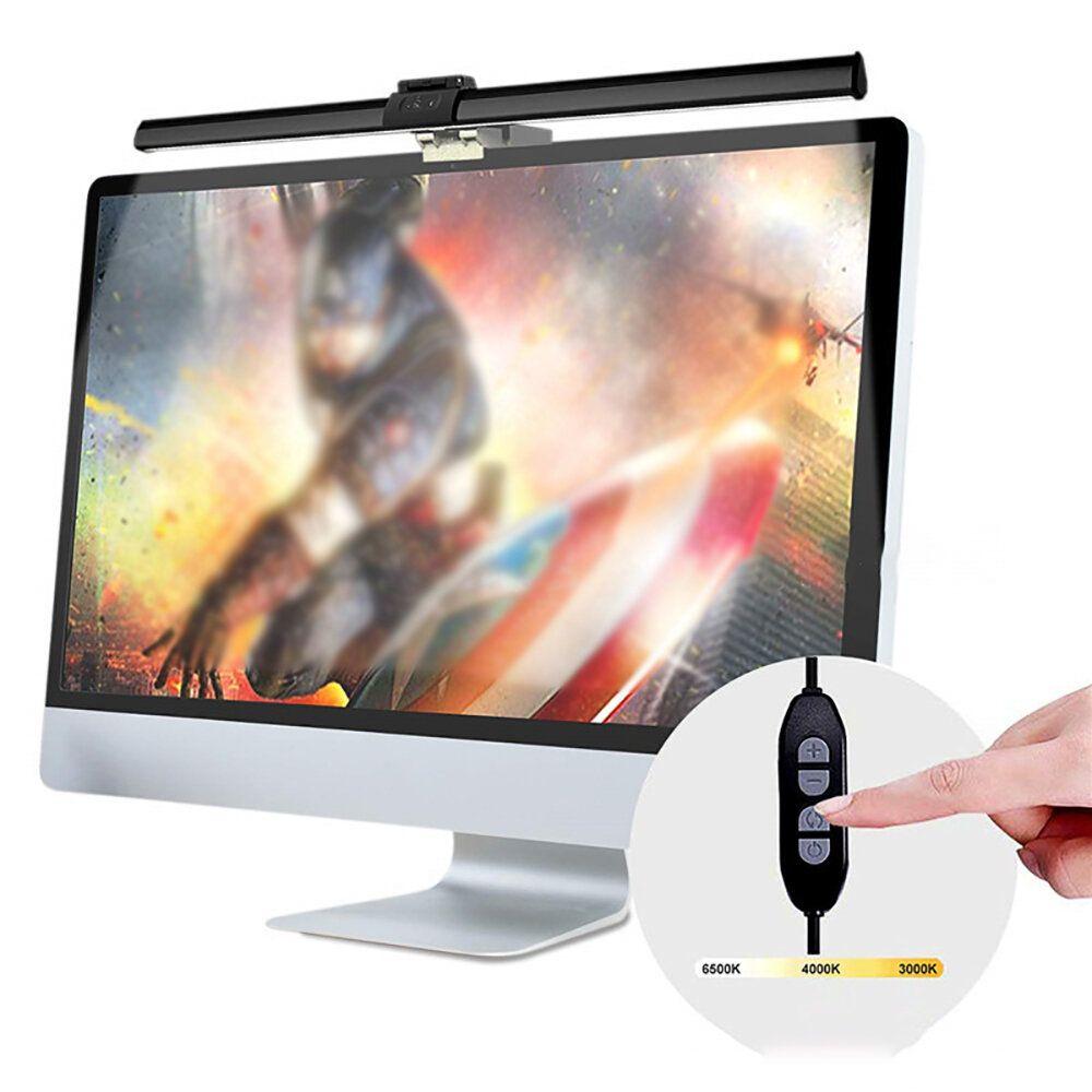 ScreenBar E Reading LED Task Lamp Asymmetric lighting with USB Control Cold Warm Colors LED Work Light USB Powered Office Lamp Monitor Laptop