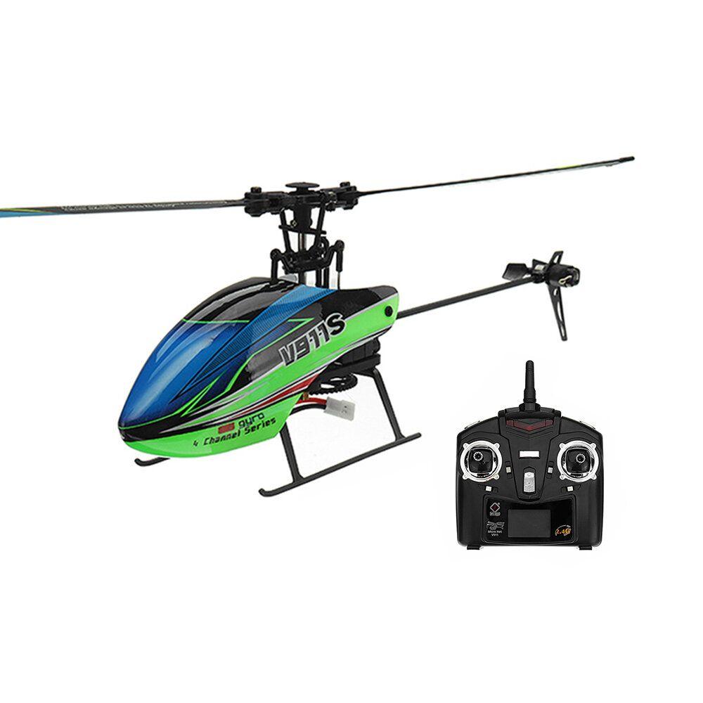 WLtoys V911S 2.4G 4CH 6 Aixs Gyro Flybarless RC Helicopter RTF