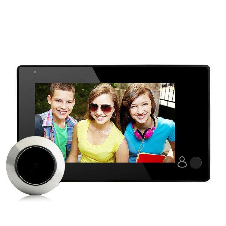 DANMINI YB 43CH Peephole Viewer Doorbell 145 Degree Wide Viewing Video Intercom Built in 4pcs IR LED