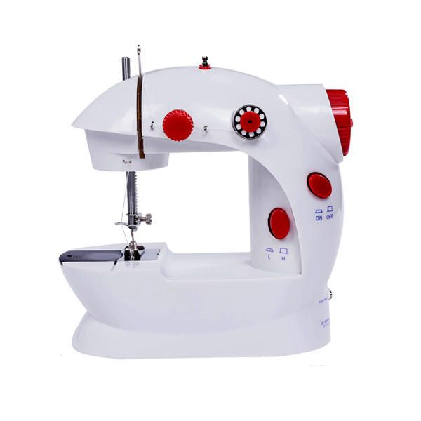 Mini Desktop Auto Winding Electric Sewing Machine Household Double Stitch Sewing with LED Light
