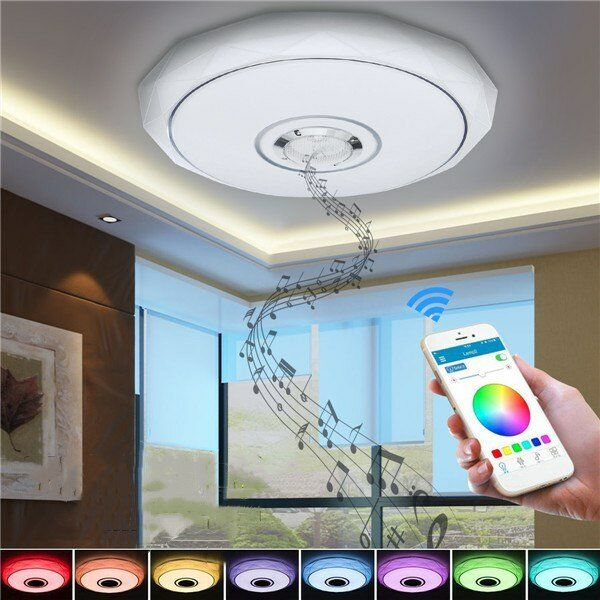 36W RGB Smart APP Control LED Ceiling Lights bluetooth Music Chandelier for Home Decor Party