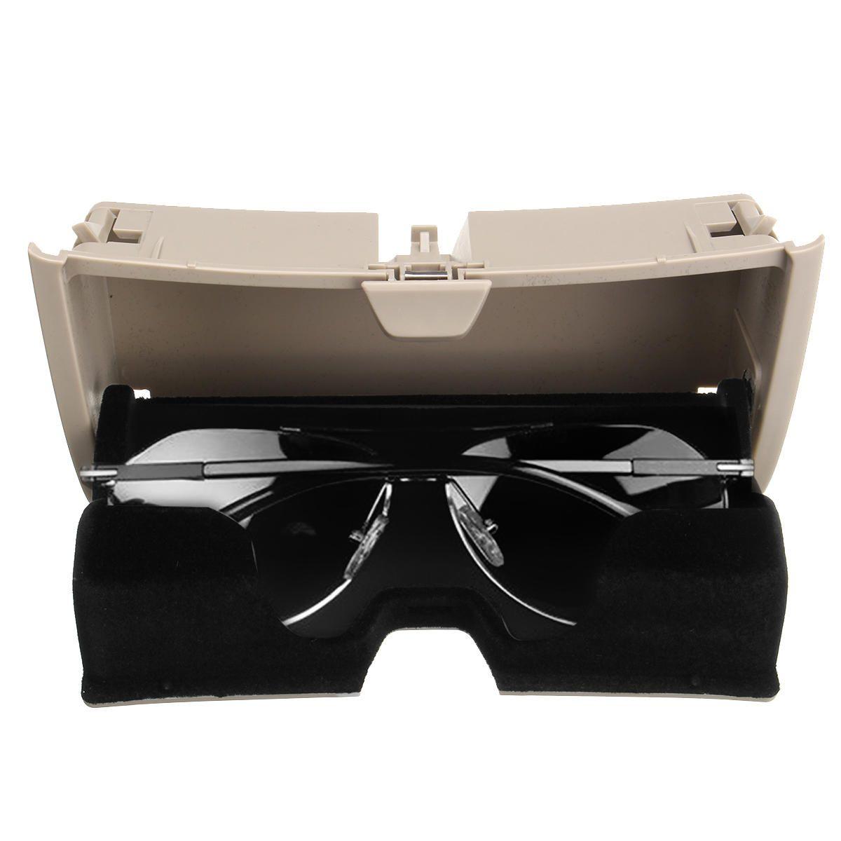 Car Front Sun Glasses Case Box Holder Plastic Storage Box Beige for BMW X5 X6 F15 F16 2014 2017