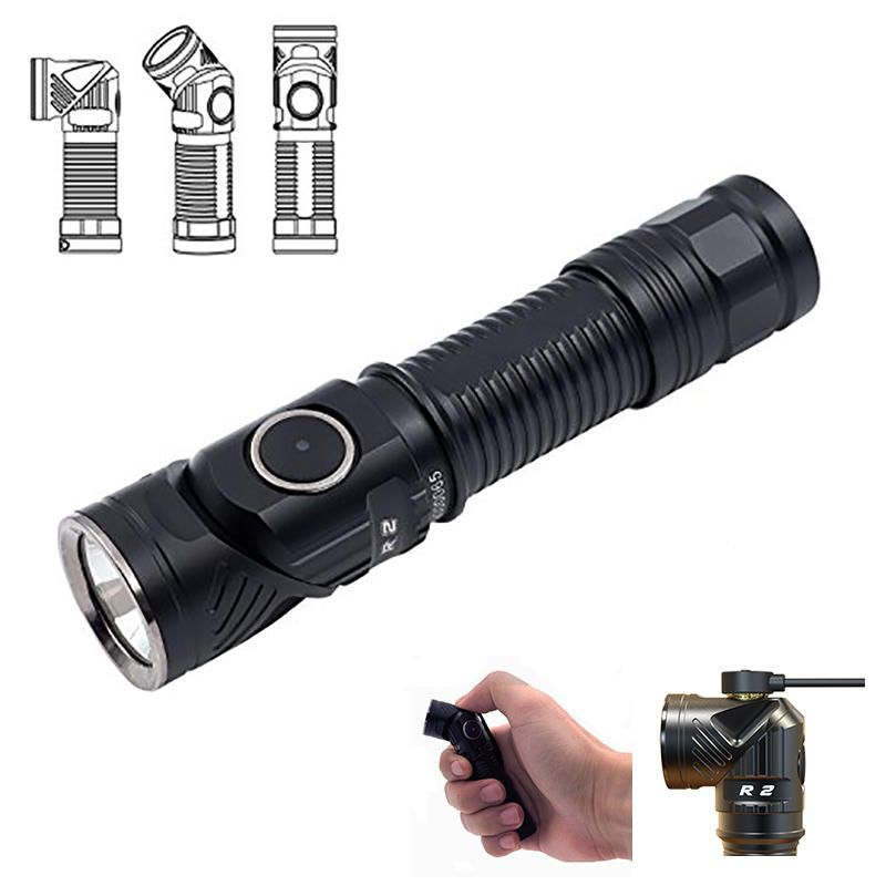 Rofis R2 L2 U3 700LM Rechargeable Magnetic Charging Head Rotation EDC LED Flashlight Headlamp