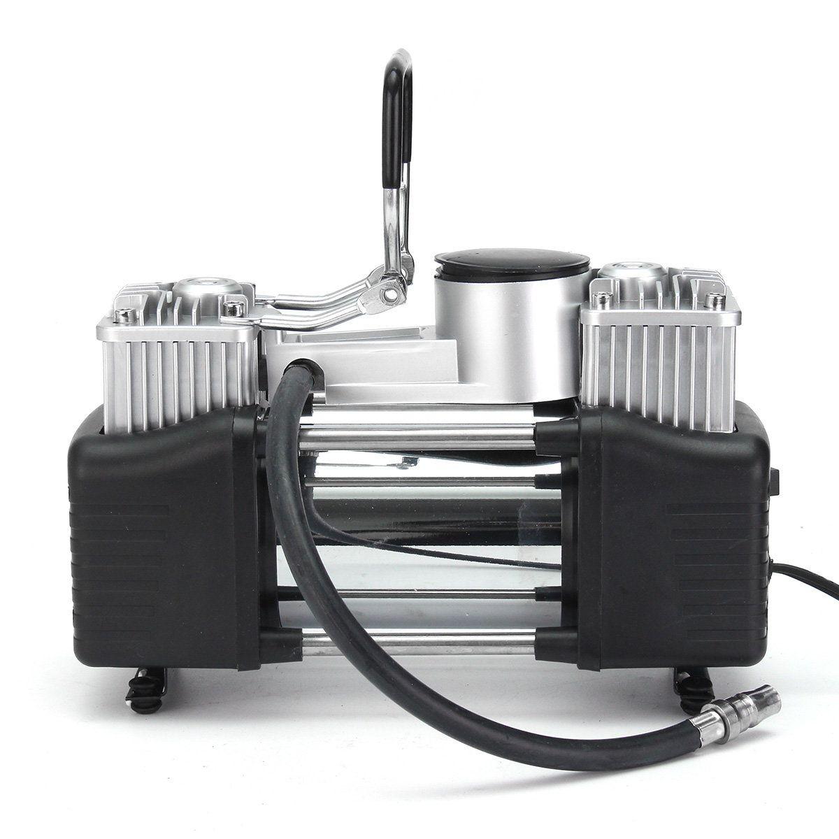 12V 150PSI Double Cylinder Air Pump Compressor Tire Tyre Inflator For Car Bike Van