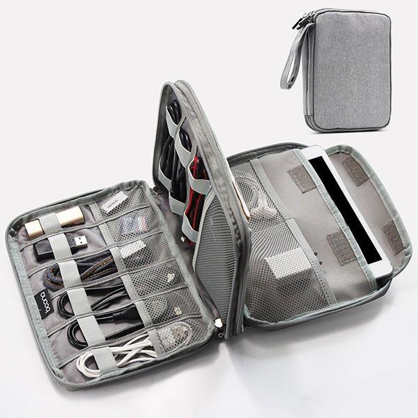 Multifunctional Oxford Store Bag Phone Bag Digital Line Large Capacity Storage Bag for Ipad