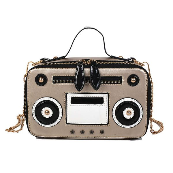 Women Cute Recorder Shape Square Bag