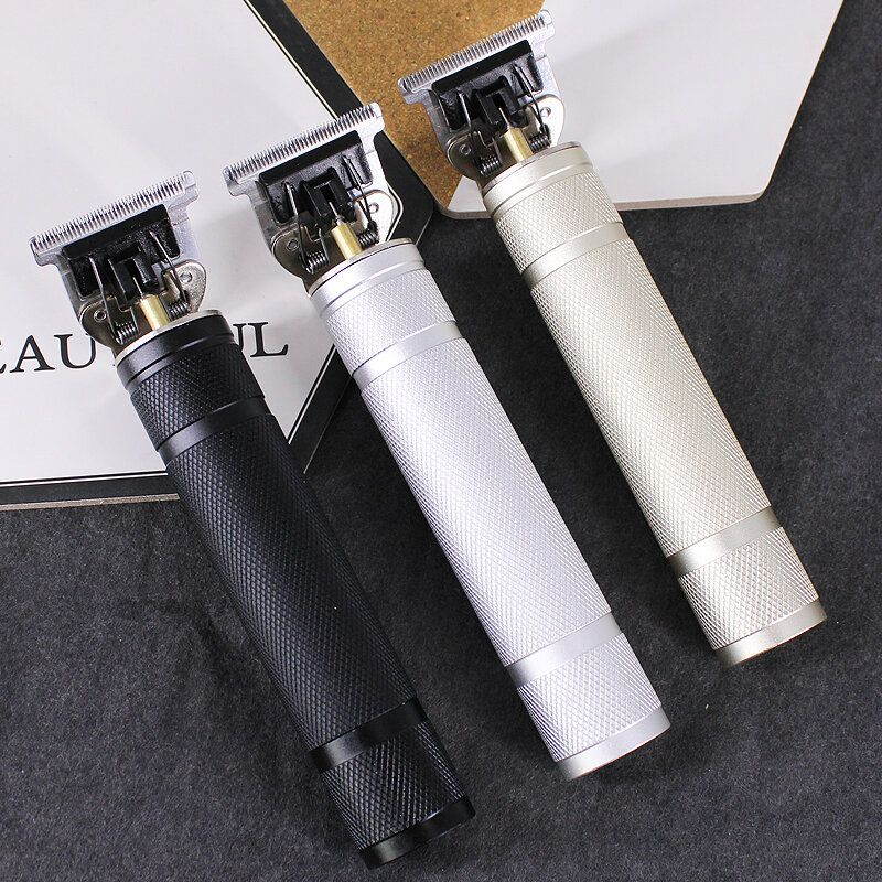 T9 Carving Push White Small Fader Oil Head Electric Clipper Rechargeable Electric Hair Clipper