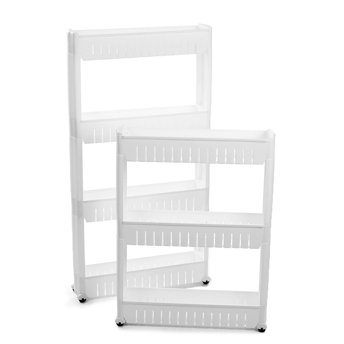 Slim Slide Out Trolley Rack Holder Storage Shelf Organiser on Wheels Kitchen Office