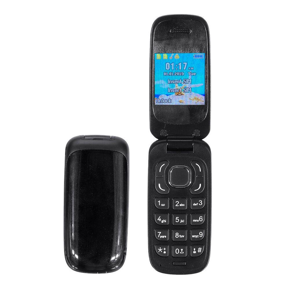 MAFAM F3 1.44 inch 700mAh bluetooth Dialer Loud Speaker Dual SIM Card Dual Standby Flip Mini Card Phone with Strap