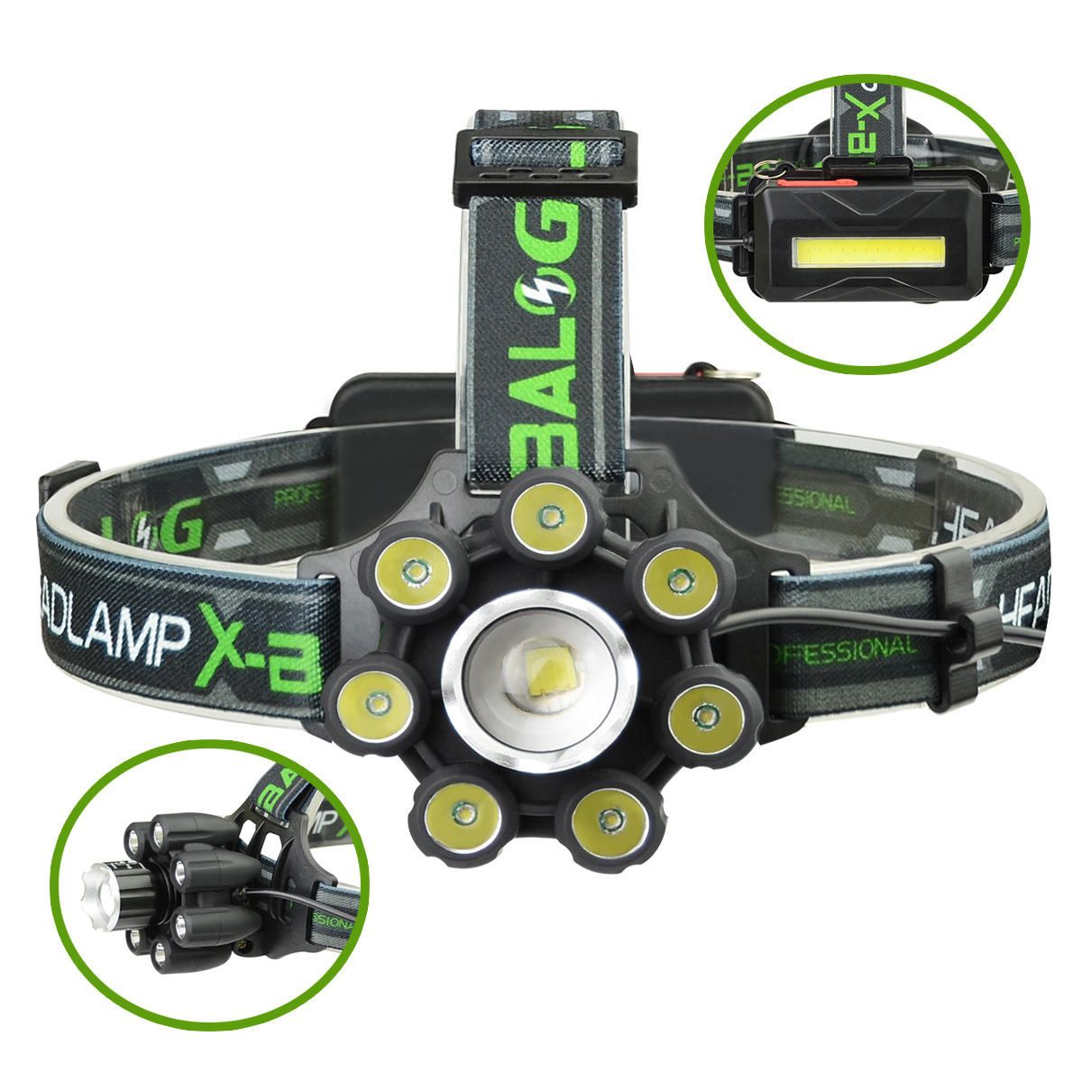 XANES BL T88 B6 3350LM T6 7XPE 6 Modes Telescopic Zoom Cycling Hunting Camping Outdoor LED Headlamp USB Charging Interface