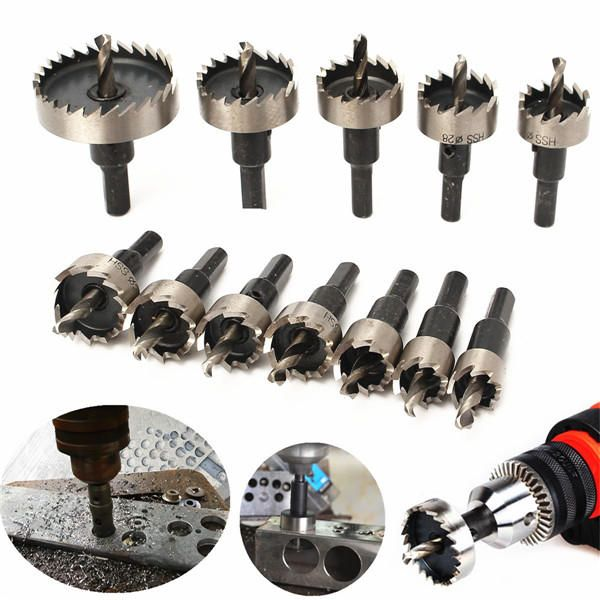 12pcs 15 50mm HSS Hole Saw Cutter HSS Drill Bits Set