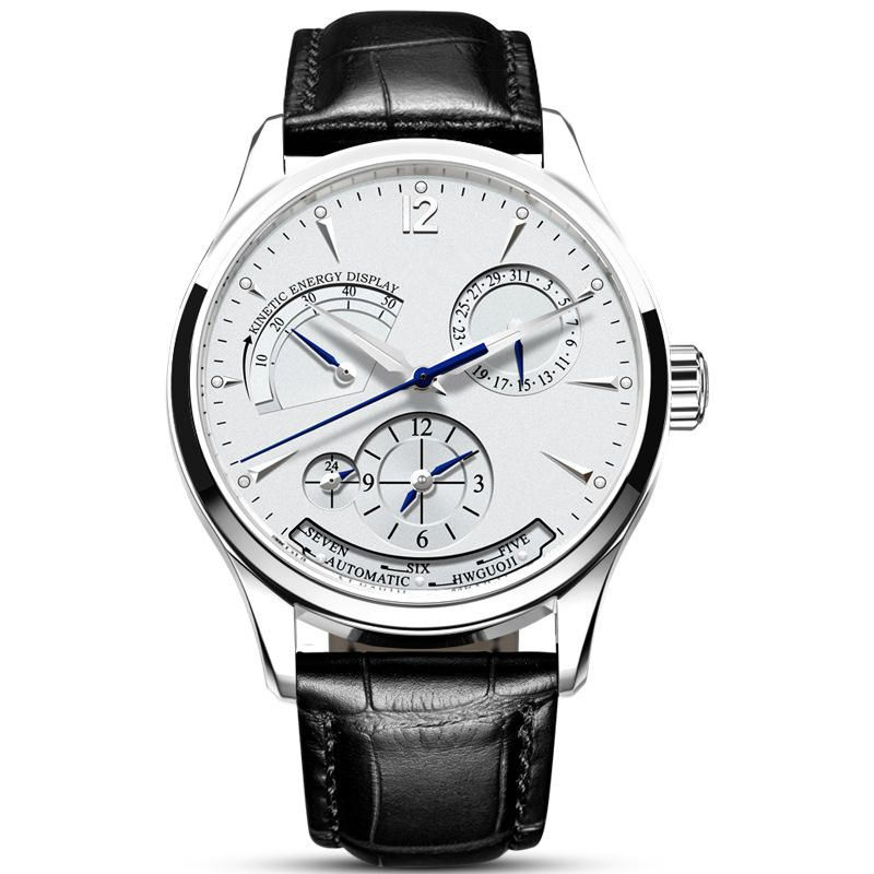 CARNIVAL C19 Multifunction Automatic Mechanical Watch Calendar Genuine Leather Strap Men Watch