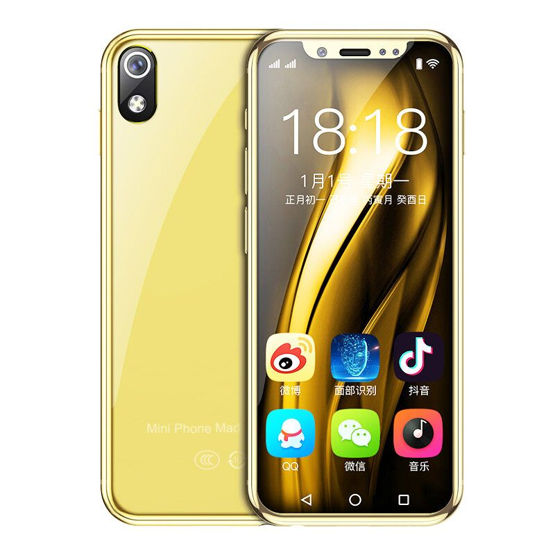 Anica I9S 3G Network Smartphone 3.5 Inch 1280mAh Android 8.1 Support Google play Dual SIM Card Dual Standby Mini Card Phone