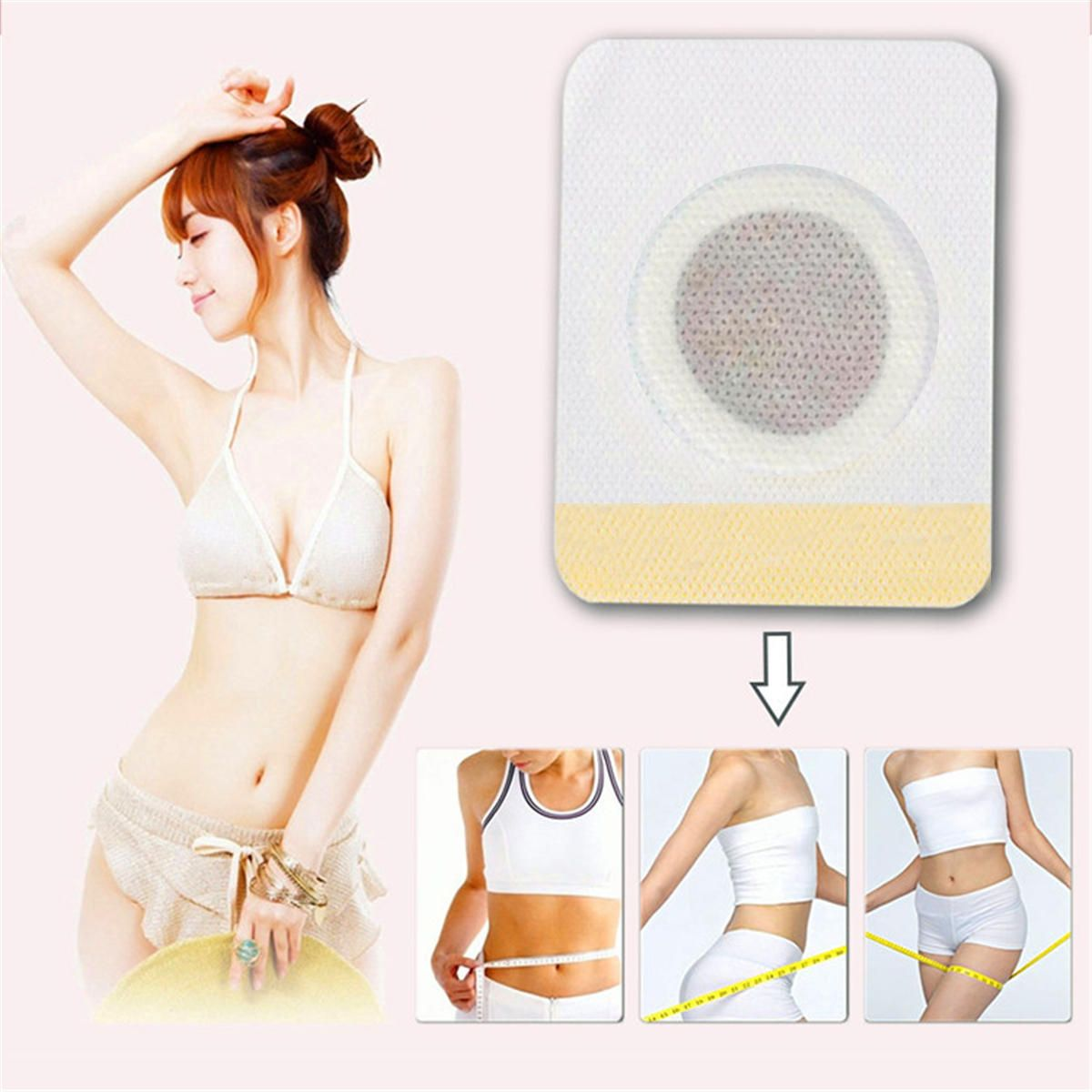 JRP US$2.45 10Pcs Magnetic Abdominal Body Wonder Slimming Patch Navel Sticker Fat Burner Anti-Obesity