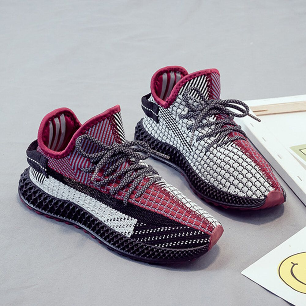 Women Fabric Mesh Breathable Running Sneakers