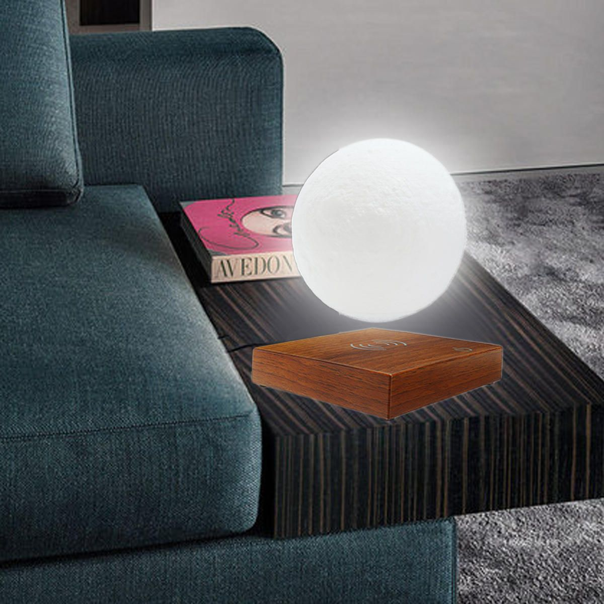 Gradient Color 3D Moon Lamp Magnetic Levitation Toy Desk Decor