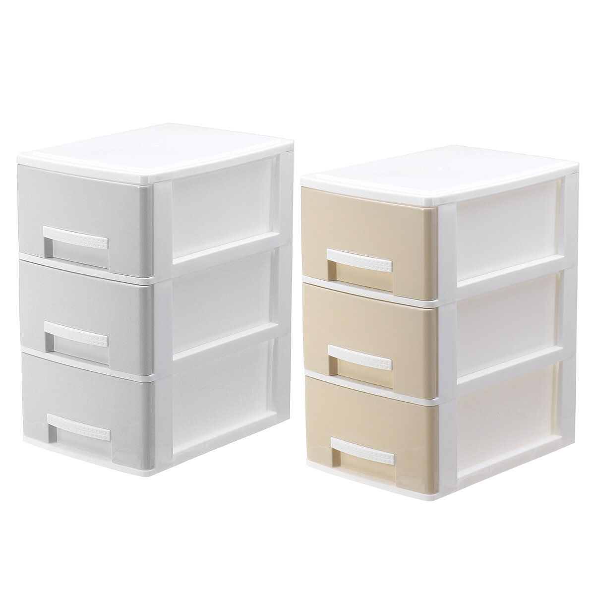 3 Layers File Cabinet Desk Organizer Box Cosmetic Makeup Storage Drawers Home Bedside Office